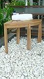 Grade-A All Teak Wood Corner Stool Seat Shower Bench