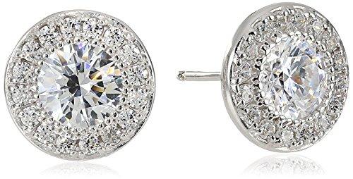 platinum-plated-sterling-silver-round-cut-swarovski-zirconia-halo-stud-earrings