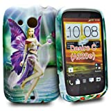 Phonedirectonline - Angel flower design fancy silicone case cover pouch for htc desire C