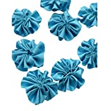 Foppish Mart Blue satin Stitched Flowers