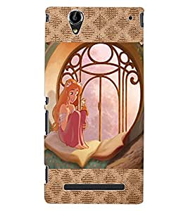 ColourCraft Lovely Princess Design Back Case Cover for SONY XPERIA T2 ULTRA
