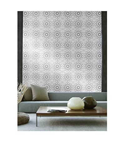 Tempaper Designs Medallion Self-Adhesive Temporary Wallpaper, Platinum, 20.5 x 33'