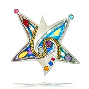Colorful Star of David Pin from the Artazia Collection #2301 JP