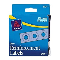 Avery Consumer Products Reinforcements, 1/4\