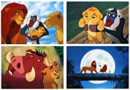 Disney Exclusive Limited Diamond Edition THE LION KING LITHOGRAPH SET of 4