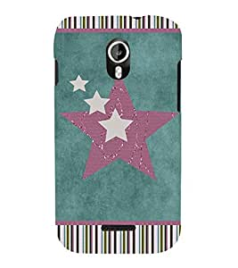 Colorful Stars 3D Hard Polycarbonate Designer Back Case Cover for Micromax Canvas Magnus A117