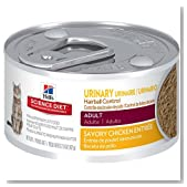 Hill's Science Diet 2.9 oz Adult Urinary Hairball Control Cat Food, Small, Pack of 24