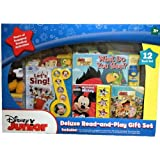 Disney Junior Deluxe Read-and-Play Gift Set - 12 Book Set Featuring Jake And The Never Land Pirates And Mickey...