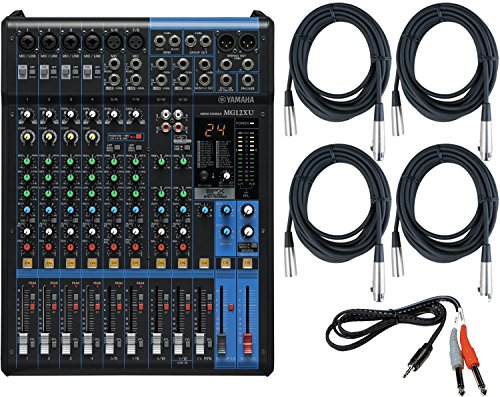 Yamaha MG12XU 12 Input, 4 Bus Mixer (with Compression, Effects, and USB) w/ Cables (Mixer Yamaha compare prices)