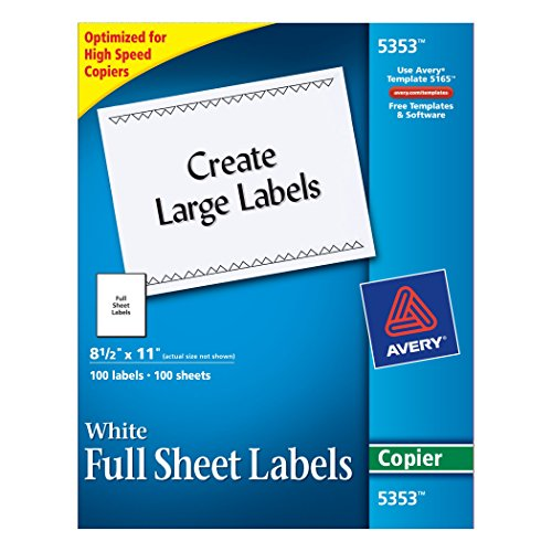 avery-full-sheet-shipping-labels-for-copiers-85-x-11-inches-white-box-of-100-5353