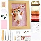 Needle Felting Starter Kit, WEST BAY Needle Felting Animal Kits with Photo Frame Instructions Wool Roving for DIY Craft Animal Home Decoration Christmas Gift