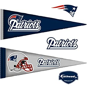 NFL New England Patriots Junior Logo Pennants Wall Graphic by Fathead