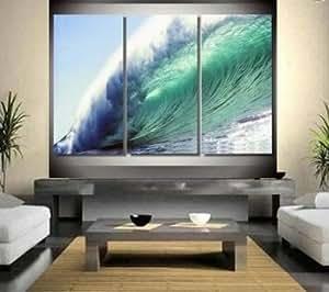 100 hand painted moderne kunst lgem lde auf leinwand 3 teilig f r zu hause pazifik big. Black Bedroom Furniture Sets. Home Design Ideas