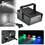 TSSS Mini 24 LEDs Stage Strobe Flash Lights for Disco Party Haunted House Lighting Magical Show,White