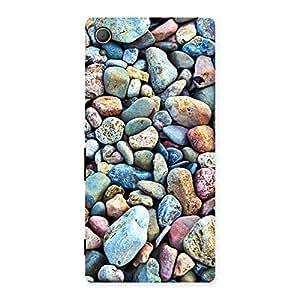 Premium Pebbles Multicolor Back Case Cover for Xperia Z3 Plus