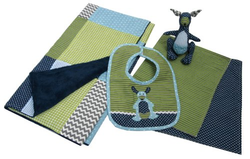 Trend Lab Perfectly Preppy Gift Set, Blue/Green, 5 Piece