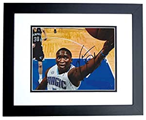 Victor Oladipo Autographed Hand Signed Orlando Magic 8x10 Photo BLACK CUSTOM FRAME by Real Deal Memorabilia