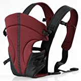Ecosusi Front and Back Baby Carrier (Purplish Red)