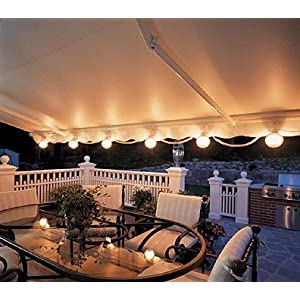 Click to buy Patio String Lights - Awning Attachment 6 White lights from Amazon!
