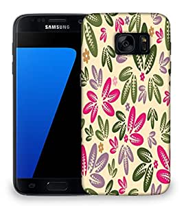Snoogg Multicolor Leaves Designer Protective Phone Back Case Cover For Samsung Galaxy S7