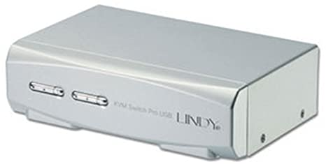 Lindy 39322 Switch KVM pro USB 2.0 audio DVI-I Dual Link avec câbles combo Mac et PC 2 ports