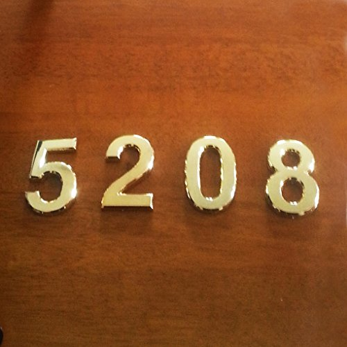 3 Packs 2 3 4 Inch House Mailbox Number Imustech Golden