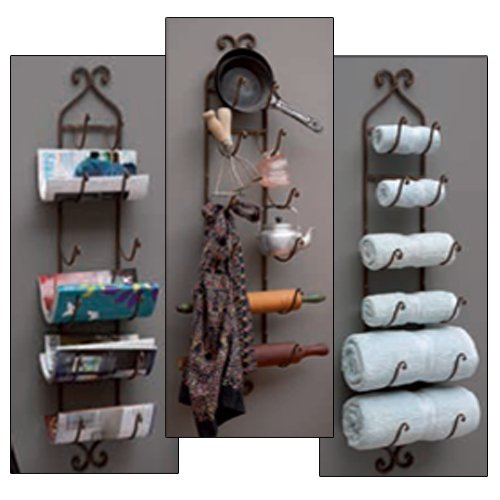 Towel Wine Rack Storage Wall Mount Home Bathroom