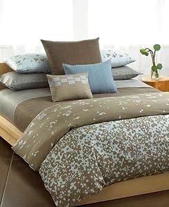 """Calvin Klein """" Jagged Grid"""" Standard/Queen Pillow Sham Dark Rye"""