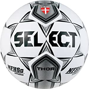 Select Thor Soccer Ball (White/Silver, Size 4)