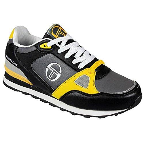Sergio Tacchini, Sneaker uomo, Nero (Black Yellow), 45
