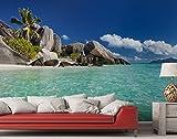 Fototapete Seychellen – Strand – Größe 366 x 254 cm, 8-teilig
