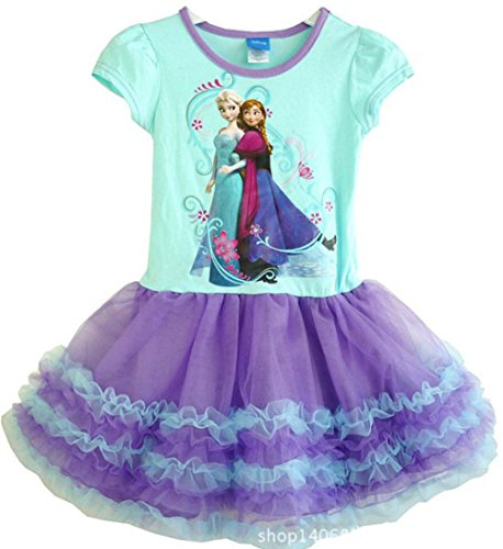 Princess Elsa and Anna Girls Tutu Dress Costume Skirt Cosplay Size 6X