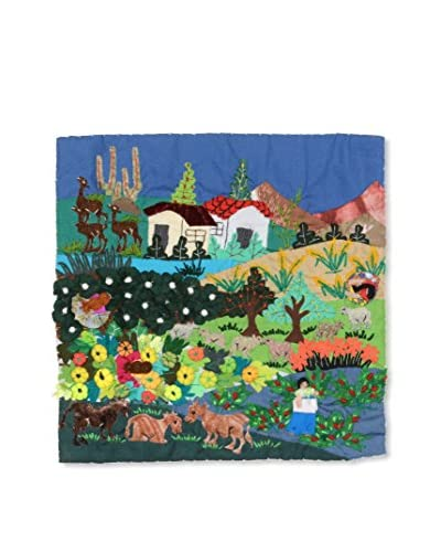 Uptown Down Found Zoo Hand-Woven Textile Collage