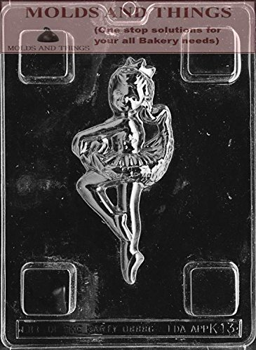 BALLERINA Kids Chocolate candy mold with molding Instructions - Set of 2 (Ballerina Cookie Cutter Set compare prices)