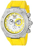 Invicta Men's 1534 Subaqua Sport Chronograph Silver Dial Yellow Silicone Watch