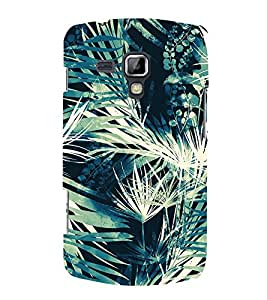 Leaf Tree Pattern 3D Hard Polycarbonate Designer Back Case Cover for Samsung Galaxy S Duos S7562