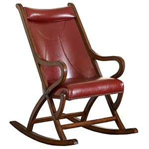 Spencer Rocking Chair Fabric: Brown