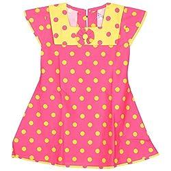 Rush Me Baby Girls' Dress (S.R.1004_5 Years, 5 Years, Rani)
