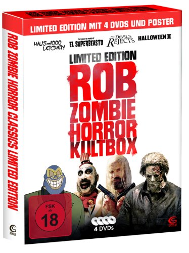Rob Zombie Horror Kultbox (Limited Edition mit 4 Kult-Horror-Hits auf DVD, Sammelschuber und Poster)
