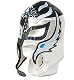 Rey Mysterio Adult Lucha Libre Wrestling Mask (pro-fit) Wear - Black Silver