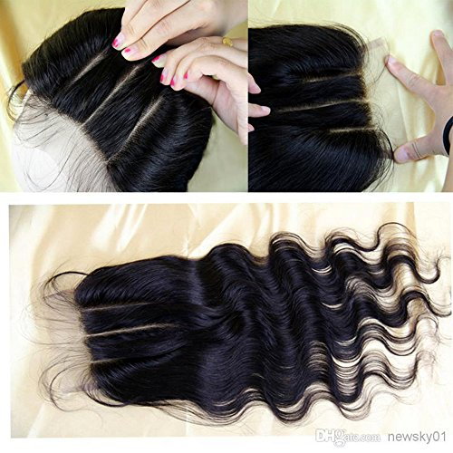 E-forest-hair-Virgin-100-Brazilian-Remy-Human-Hair-3-Way-Part-Body-Wave-44-Top-Lace-Closure-Natural-Black-10-inch130-Density-Bleached-Knots-Baby-Hair-Am-08