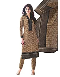 Aarvi Women's Cotton Unstiched Dress Material Multicolor -CV00052