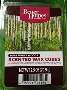 Better homes and gardens scented wax melts pure white woods scent home kitchen for Better homes and gardens wax melts