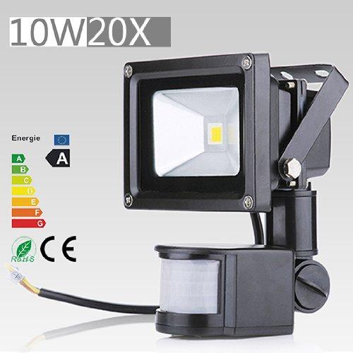 20 Pcs 10W Led Induction Pir Infrared Motion Body Sensor Flood White Lights Lamp 240V Ac Warm White