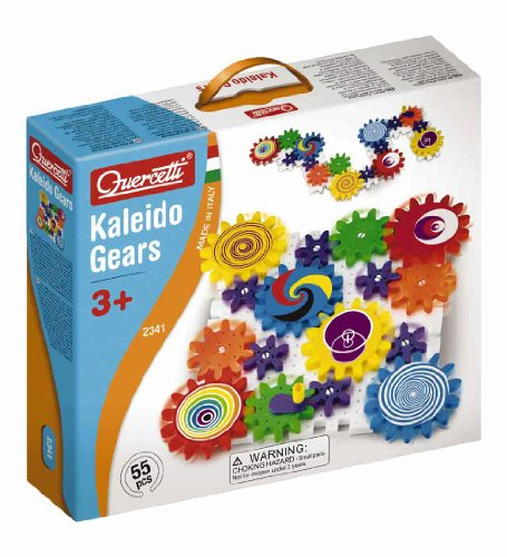 Quercetti-Kaleido-Gears-55-Piece-Building-Set-with-3-Different-Sized-Gears-Turn-the-Crank-and-Create-a-Chain-Reaction-Ages-3-Made-in-Italy