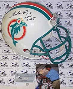 Dan Marino Autographed Hand Signed Miami Dolphins Throwback Authentic Helmet by Hall of Fame Memorabilia