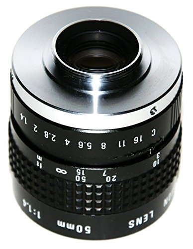 COSMICAR C-Mount HQ 50mm f/1.4 CCTV TV Lens TELE CLOSE UP Sharp - Metal Mount - Made In Japan (Made In Japan Tv compare prices)