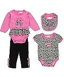 """Duck Duck Goose Baby Girls' """"Cutie Pie"""" 4-Piece Layette Set - pink, 0 - 3 months"""