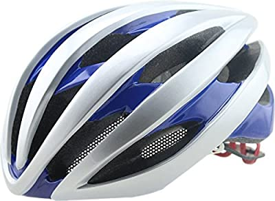 Hawkfish FT60 220g Ultra Light Weight Mens/Ladies Adult Bike BICYCLE Helmet -EPS Safety Helmet- Available With insect nets  And warning lights in 4 Colours 58-63CM by Generic0011