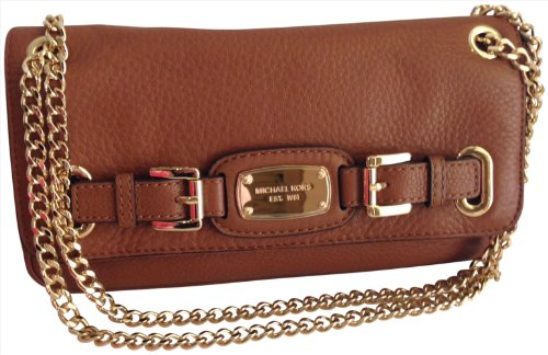 MICHAEL Michael KorsMichael Kors Hamilton Genuine Leather Small Shoulder Flap Bag Luggage